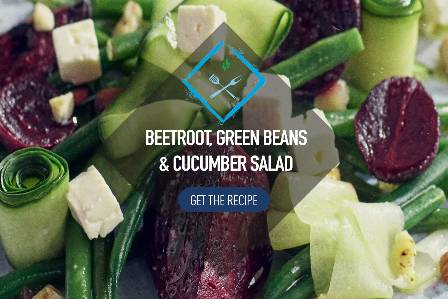 Beetroot Salad with Green Beans and Cucumber