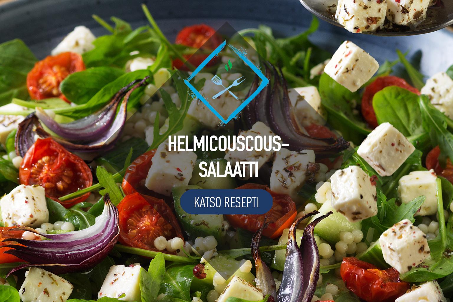 Helmicouscous-salaatti