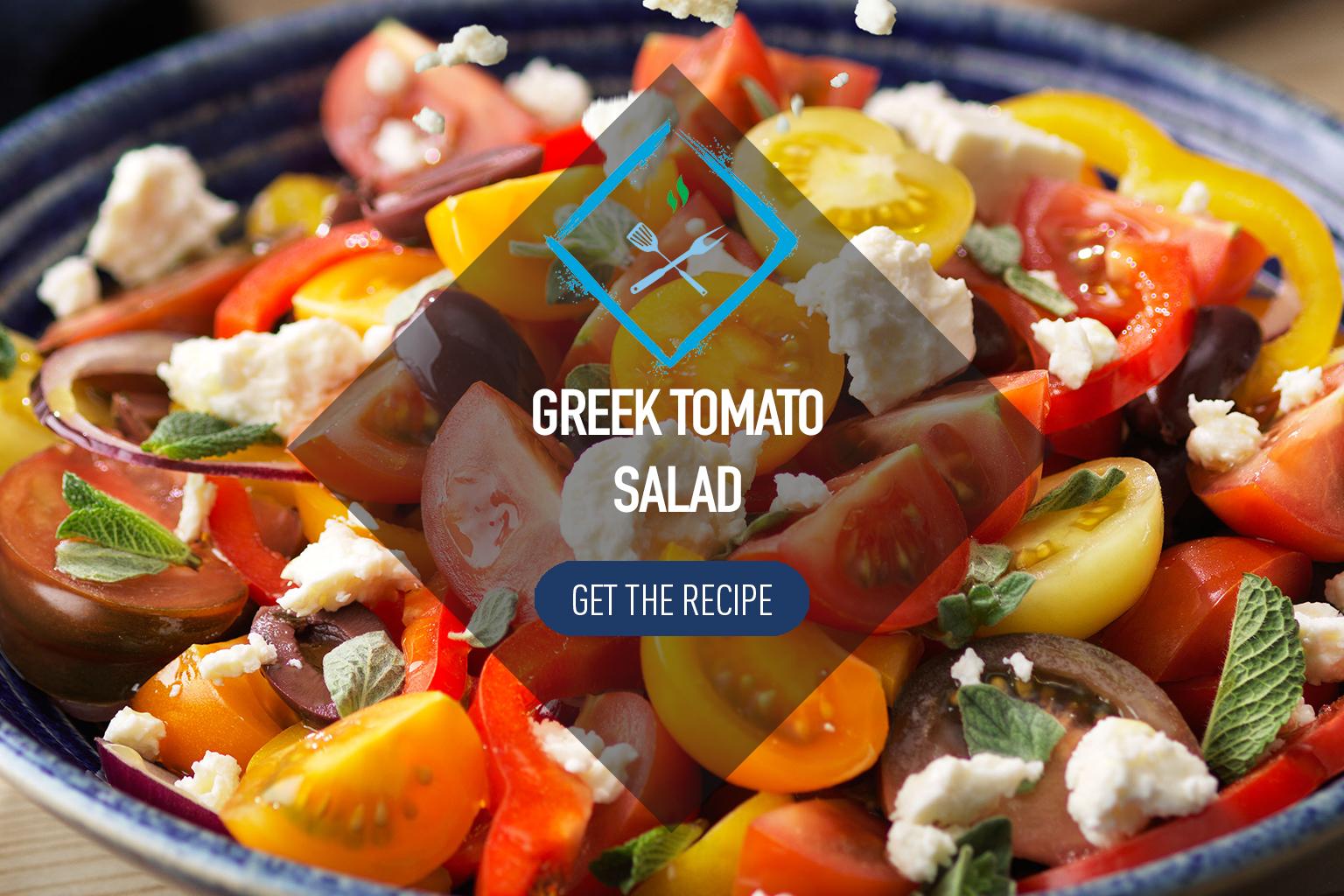 Greek Tomato Salad with White Cheese
