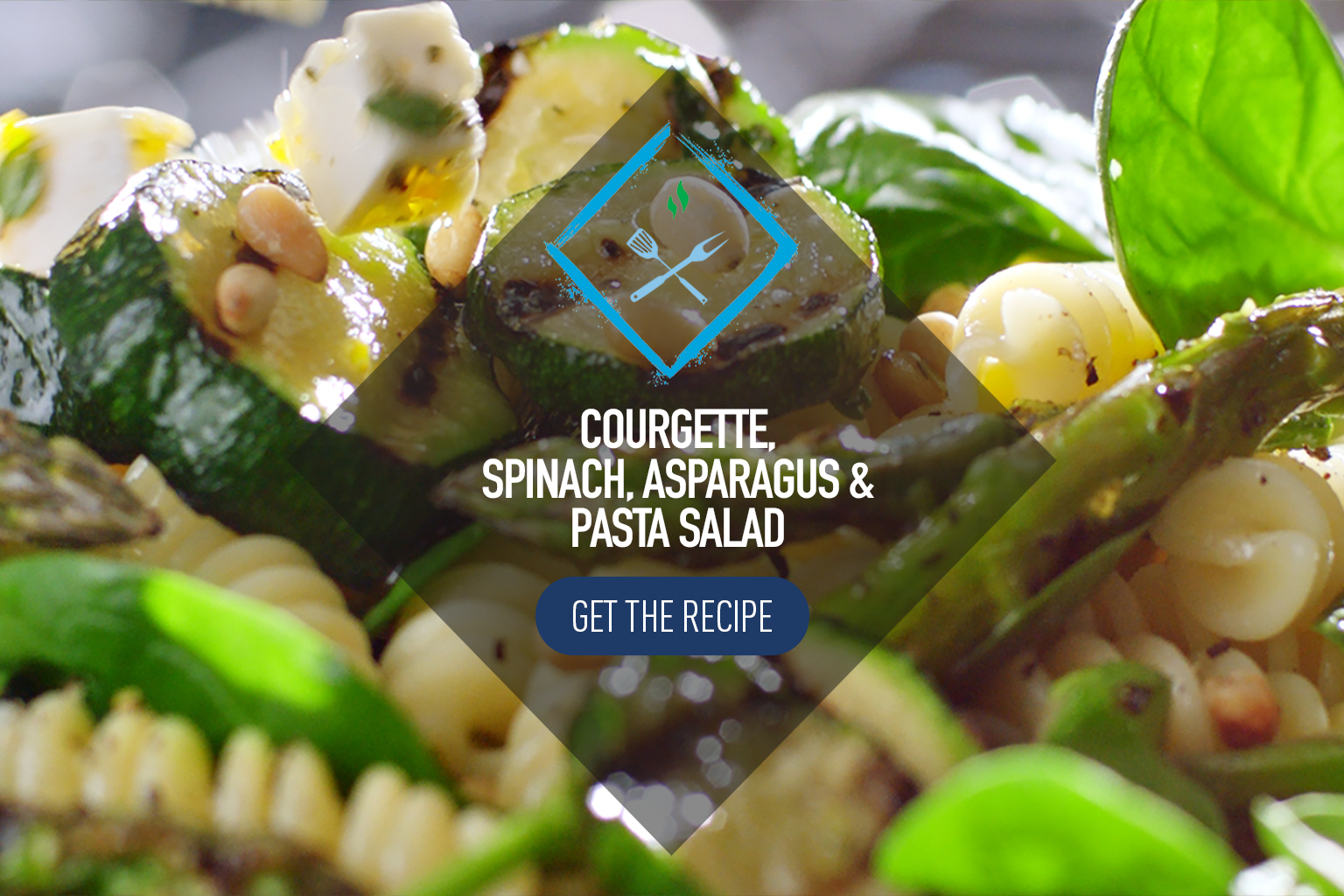 Pasta Salad with Courgette, Spinach and Asparagus